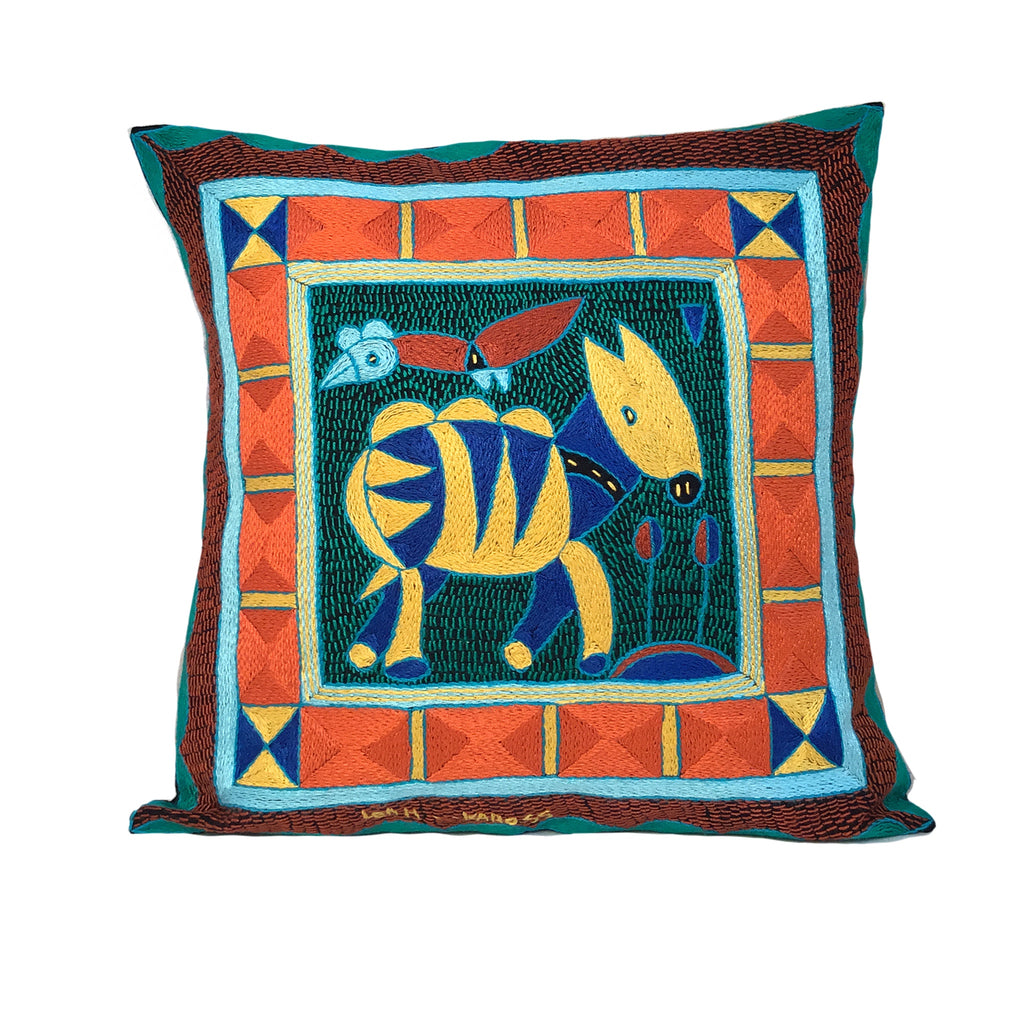 Valencia Antelope Cushion Hand-Embroidered  Cover