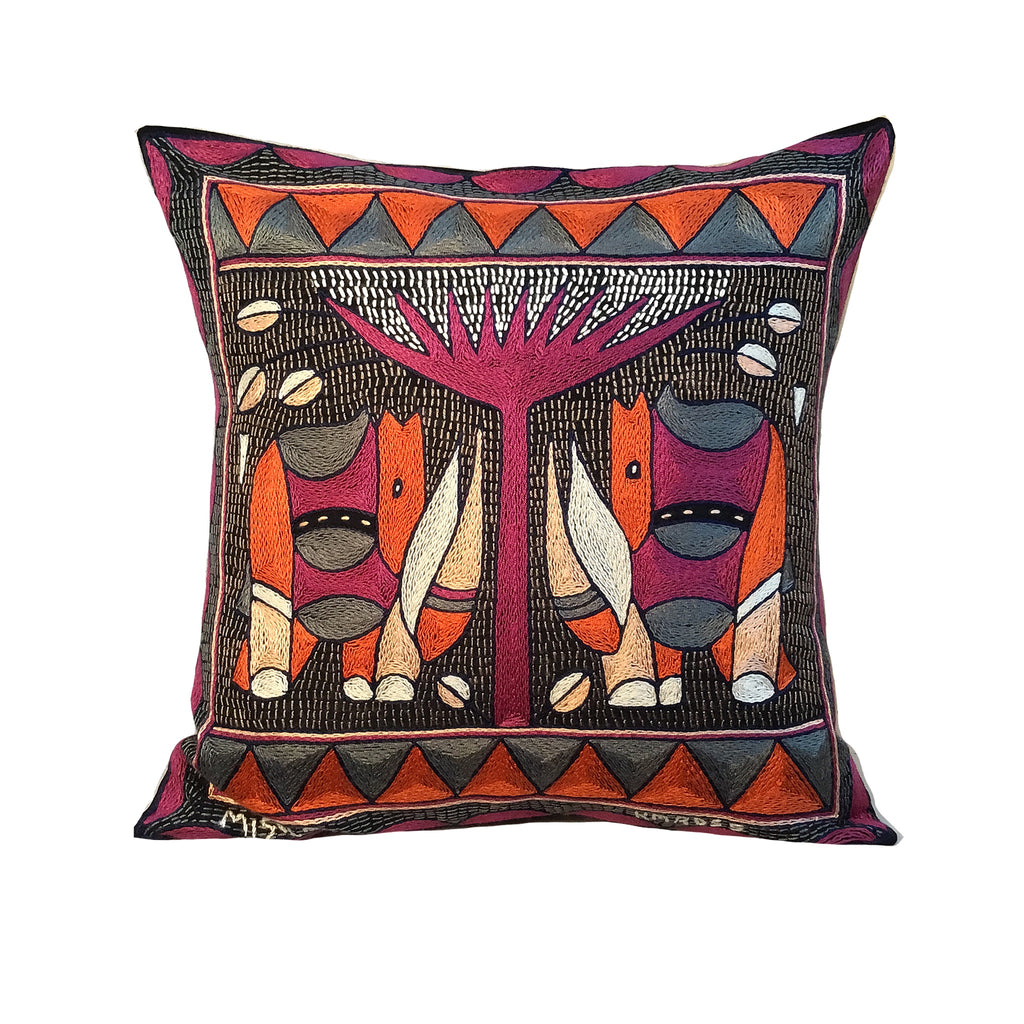 Ruby Sunset Rhino Pair Cushion Cover