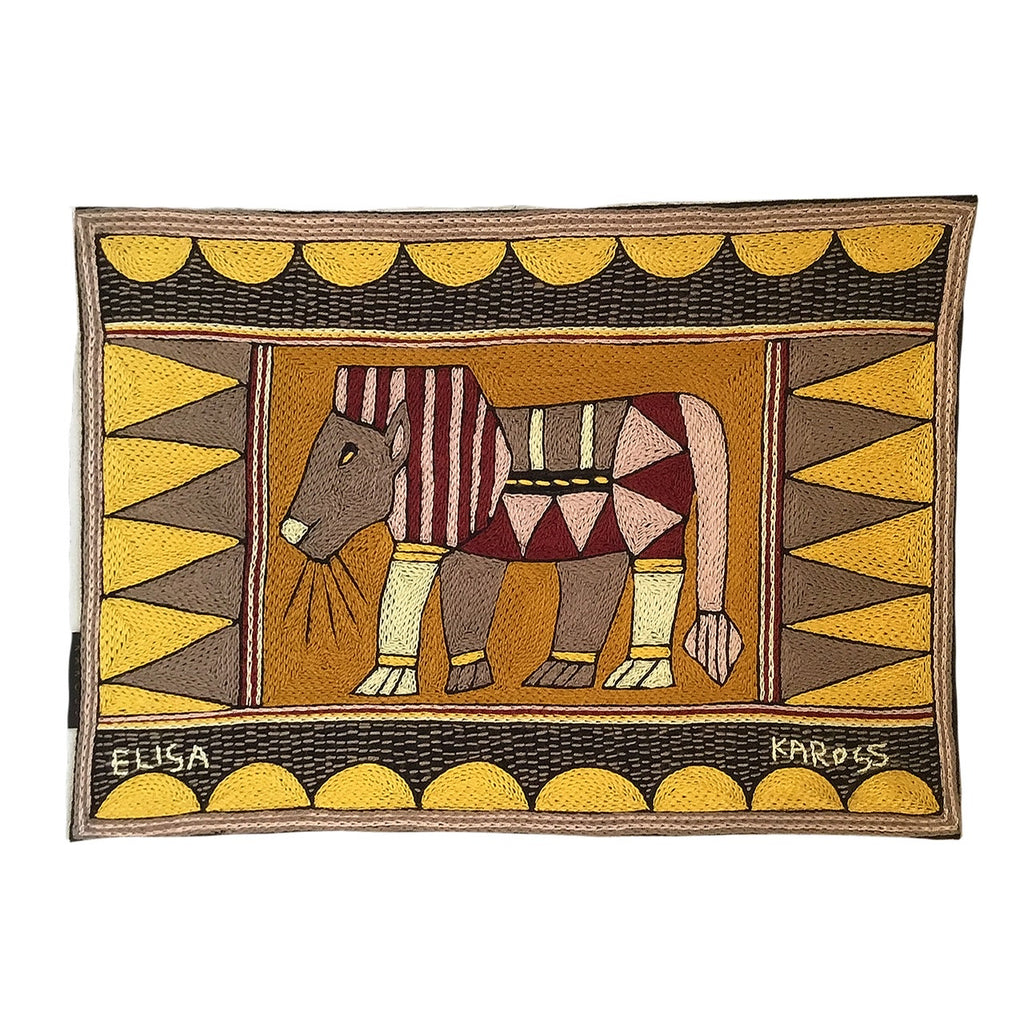 African Dawn Lion Padded Placemat