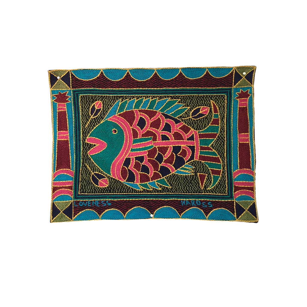 Shangaan Love Fish Unpadded Placemat