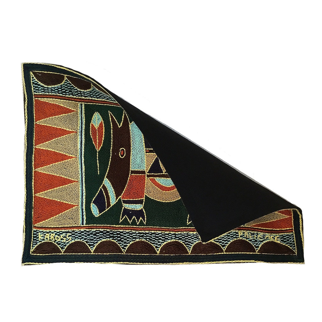 Mopani Moments Anteater Hand-Embroidered Padded Placemat