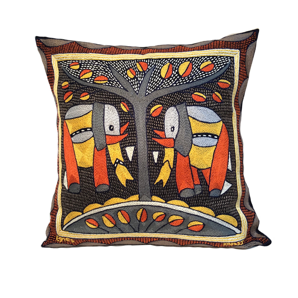 Winterveld Elephant Pair Cushion Cover