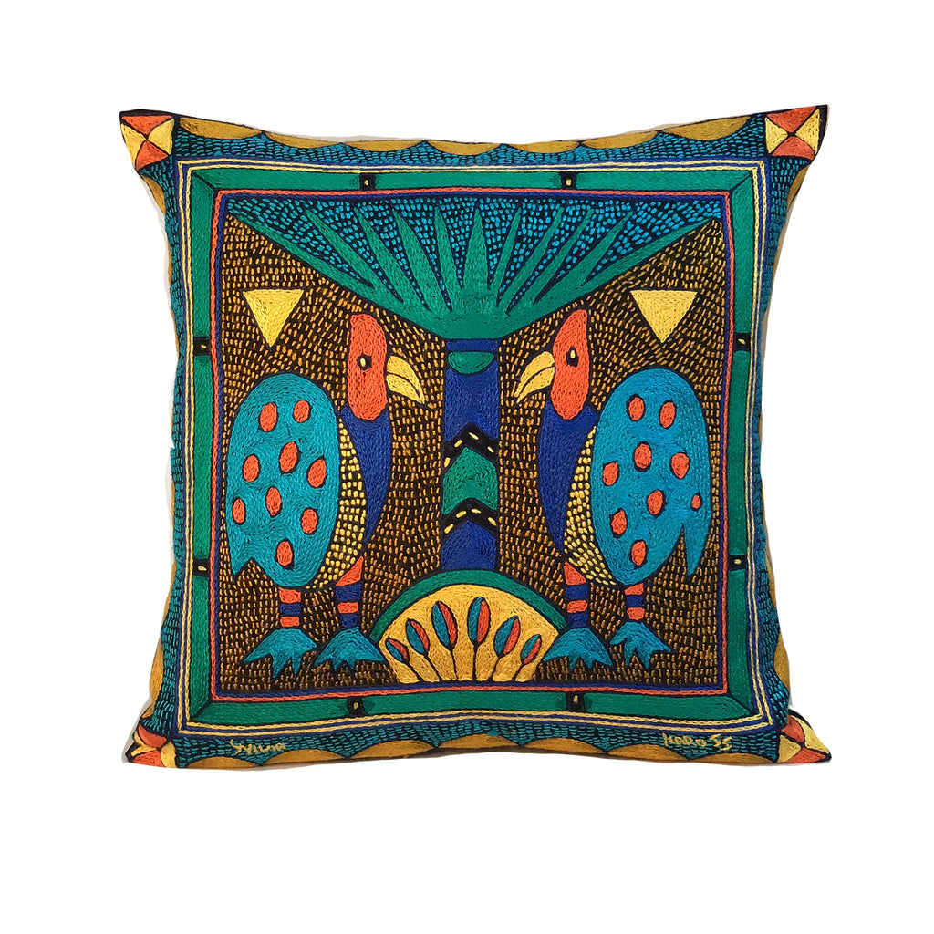 Marula's in Autumn Guinea Chat Cushion Cover