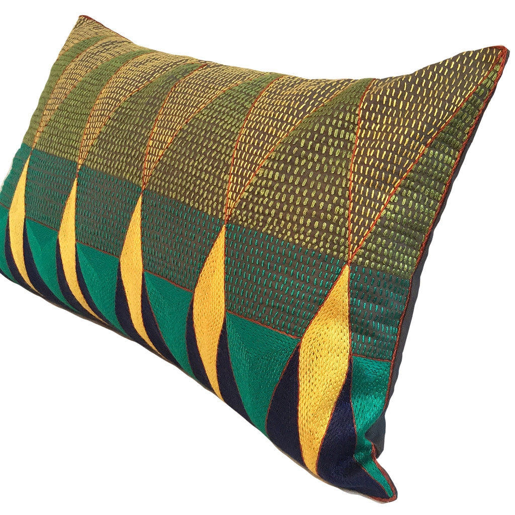 Bushveld Lush Geometric Cushion Cover