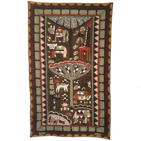Namib Rust Dark tones Embroidered Cloth
