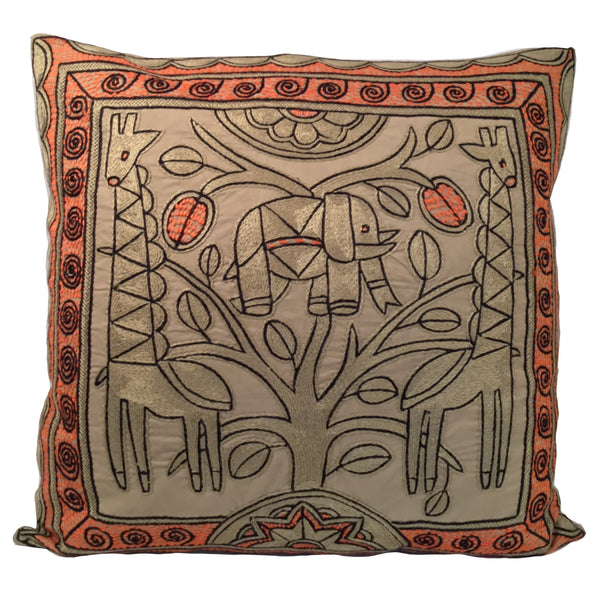 Namib Rust Elephant Heart Monochrome Cushion Cover