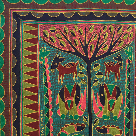 Shangaan Love Crocodile Tree Embroidered Cloth