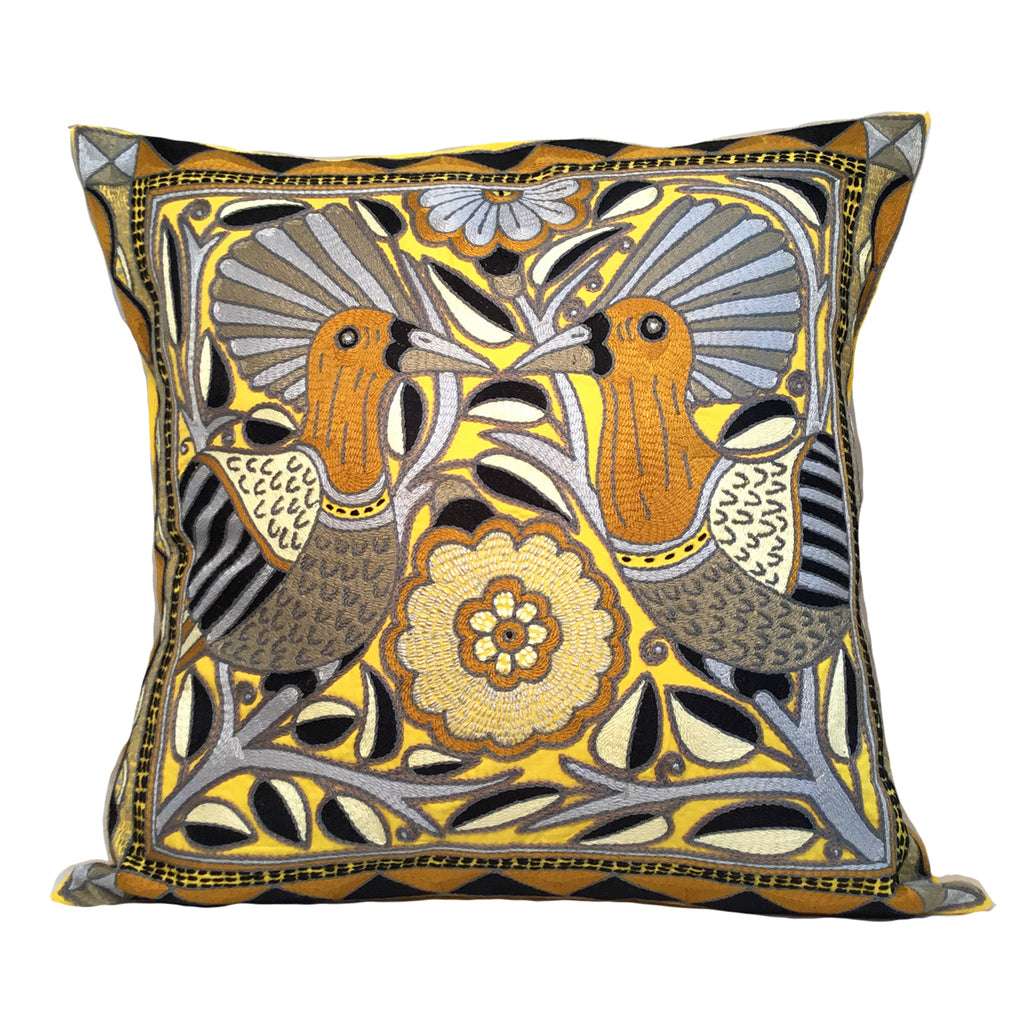 Ode to the African Savannah Love Birds Ephas Cushion Cover