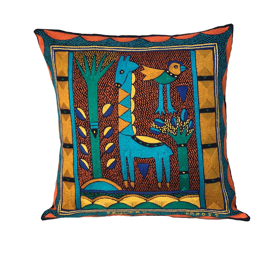 Marula's in Autumn Giraffe Standing Cushion Cover
