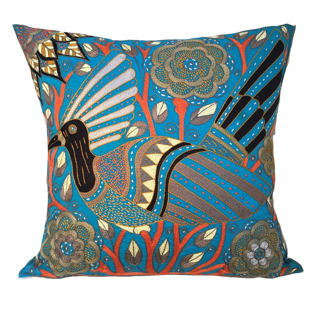 Winterveld Bird in a Flower Cushion Cover