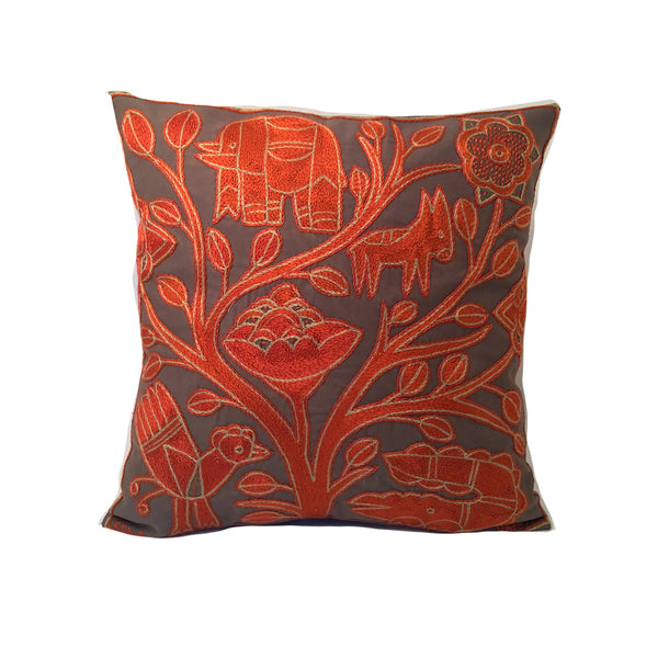 Namib Rust Tree on River's Edge Monochrome Cushion Cover