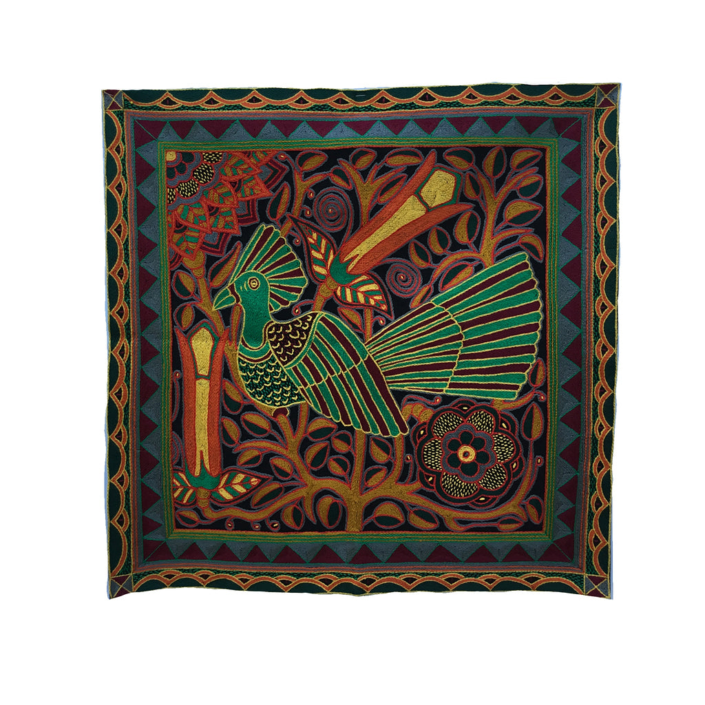 Viva Africa Emerald Bird Embroidered Cloth