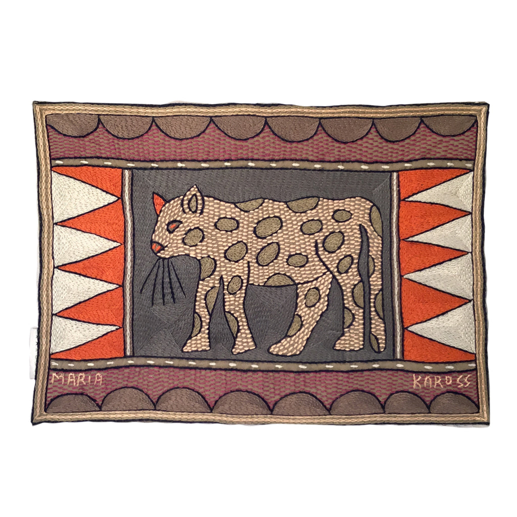 Ruby Sunset Leopard Padded Placemat