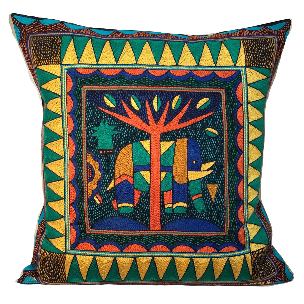 Marula's in Autumn Large Elephant Cushion Cover