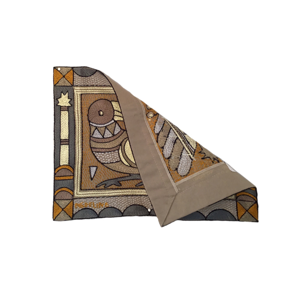 Ode to the African Savannah Curious Bird Unpadded Placemat