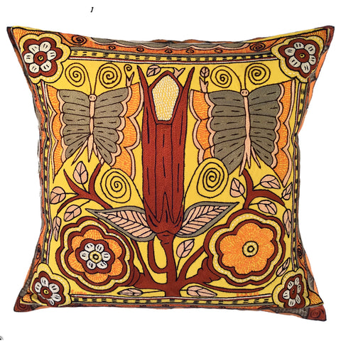 Namib Rust Butterflies and Queen Flowers Cushion Cover
