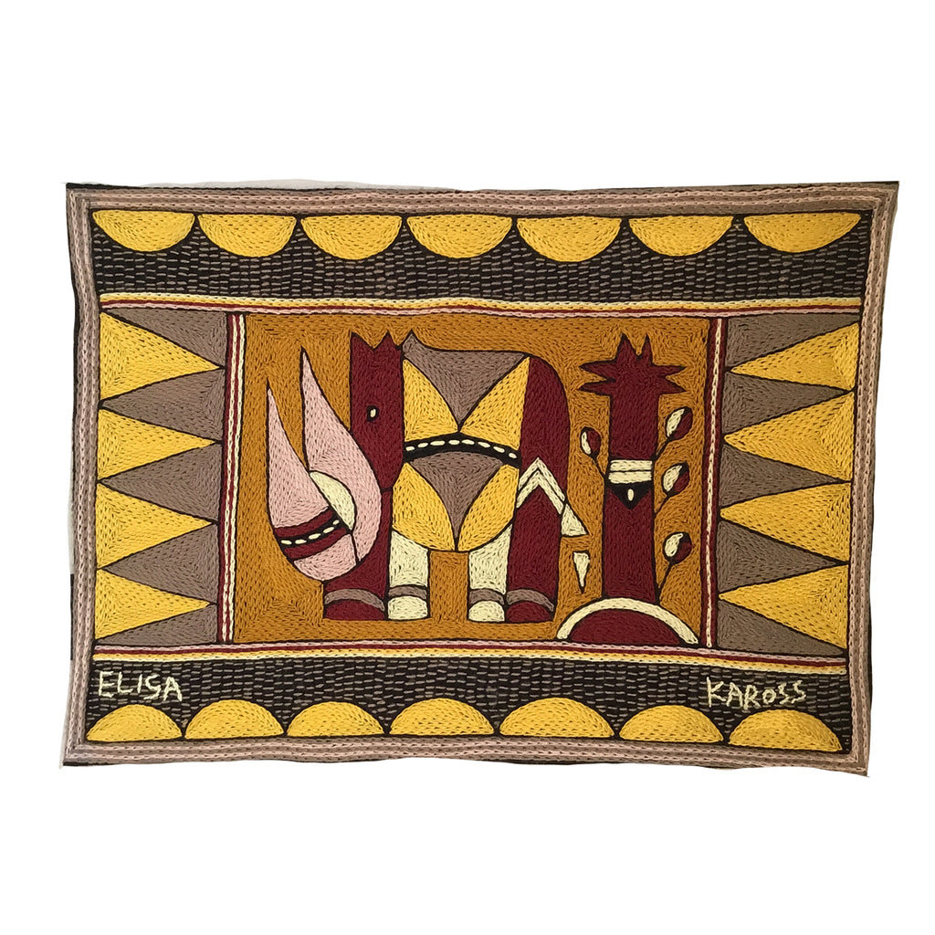 African Dawn Rhino Padded Placemat