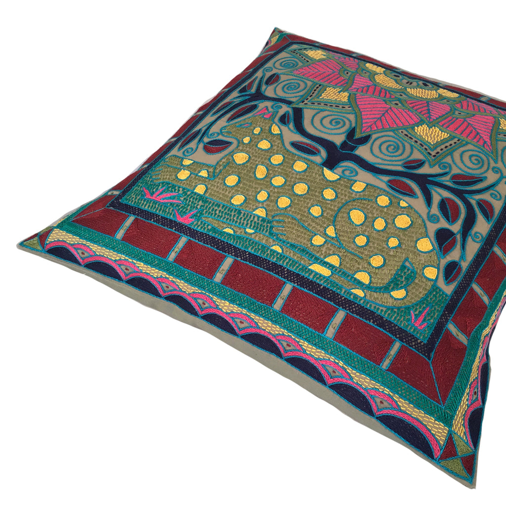 Shangaan Love Leopard Lying Cushion Cover