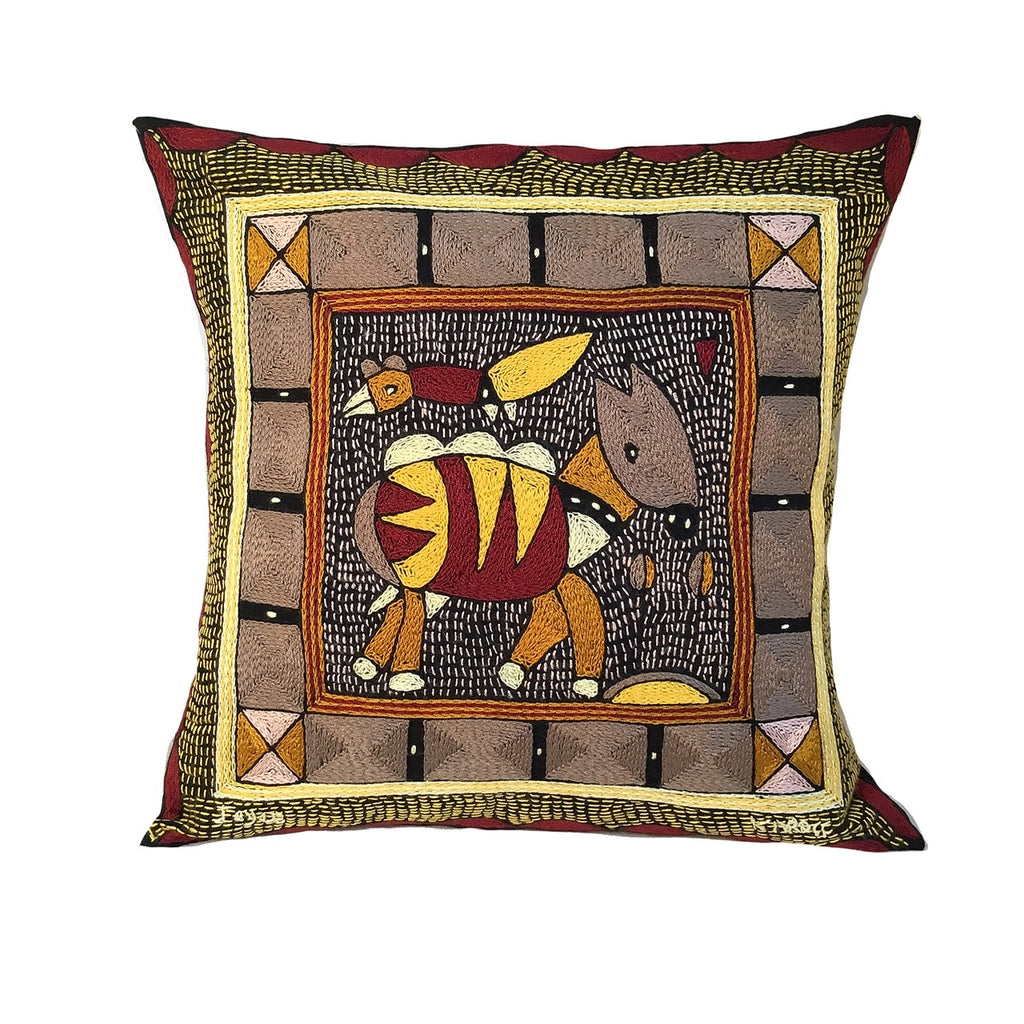 African Dawn Antelope Cushion Cover
