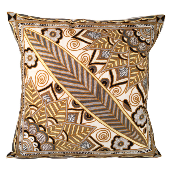 Ode to the African Savannah Another Leaf Cushion Cover
