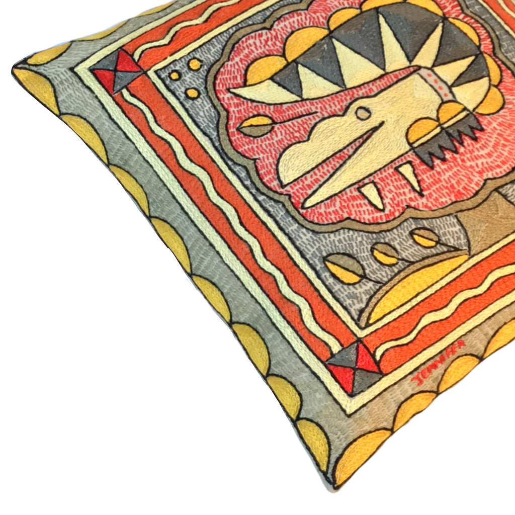 Royal Zulu Crocodile Cushion Cover
