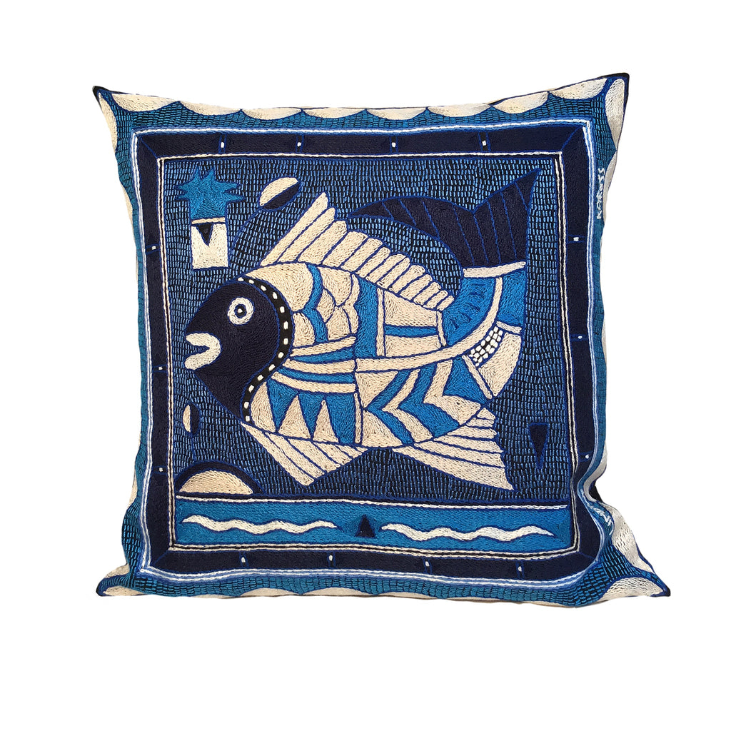 Delpht Fat Fish Cushion Cover