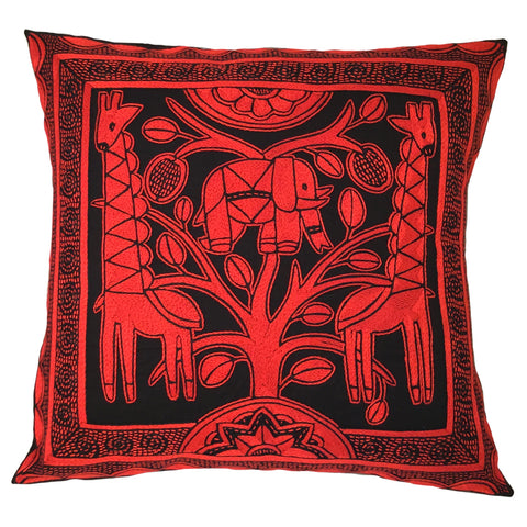 Royal Zulu Elephant at Heart Monochrome Cushion Cover