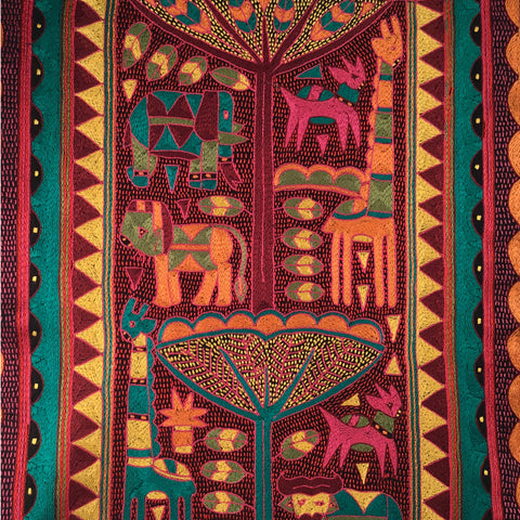 Shangaan Love Vibrance in the Bush Embroidered Cloth