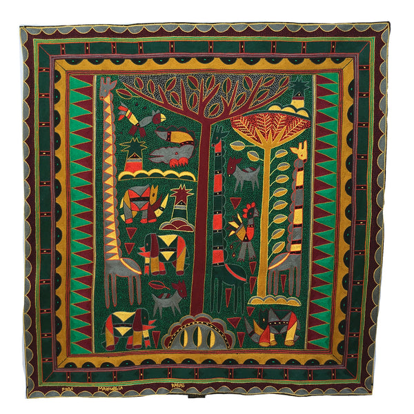 Viva Africa Animals Embroidered Cloth