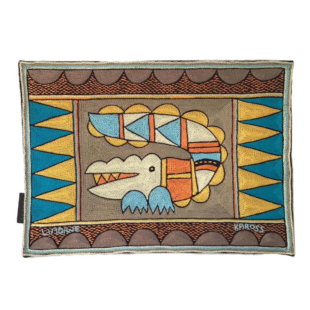 Coastal Calm Crocodile handmade Padded Placemat