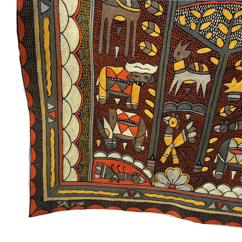 Winterveld Thorny Bush Embroidered Cloth