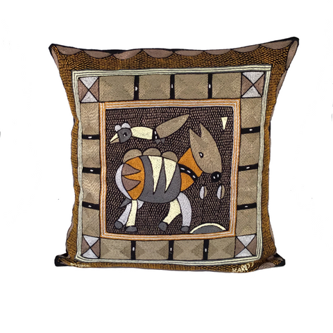 Ode to the African Savannah Antelope Cushion Cover