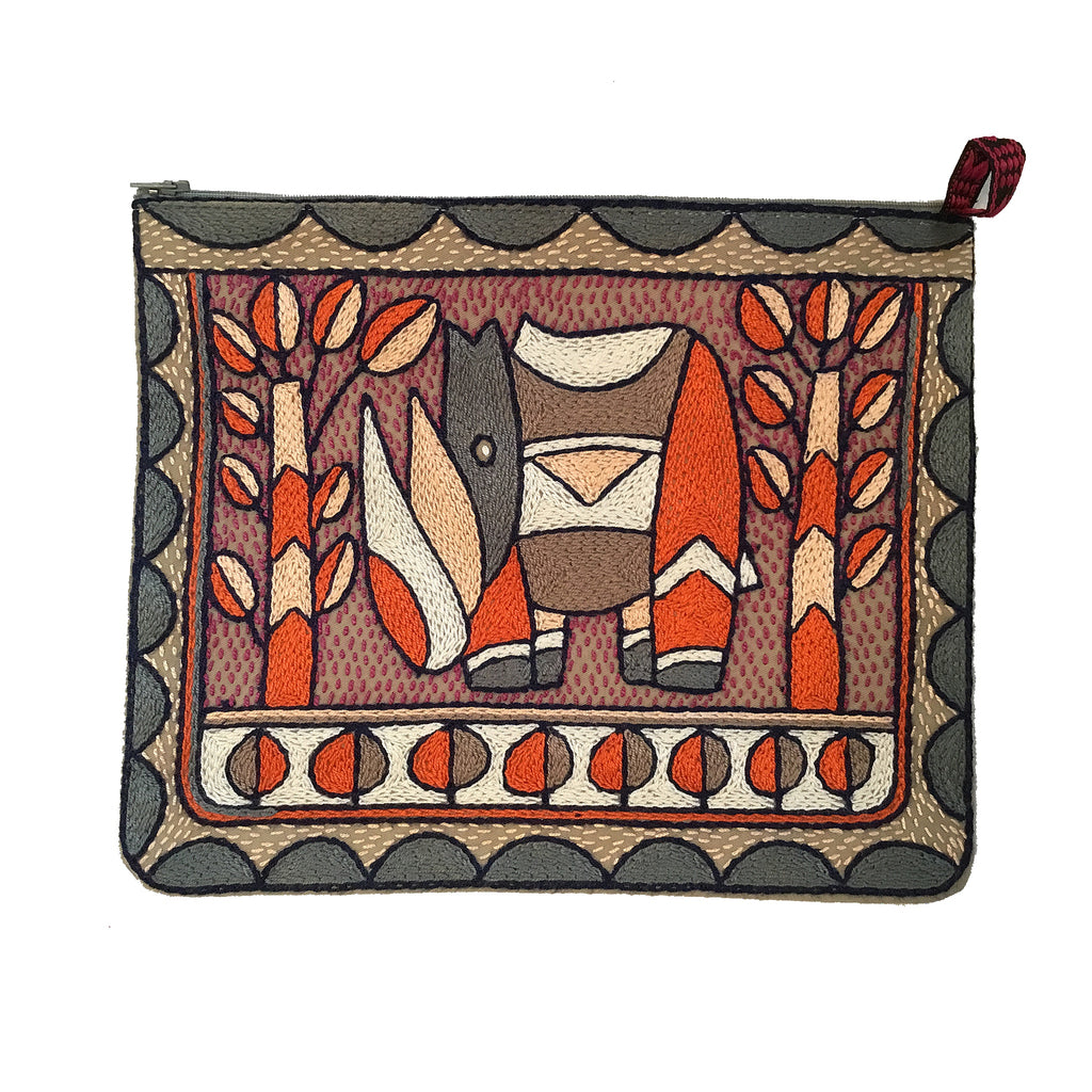 Ruby Sunset Zip pouch large