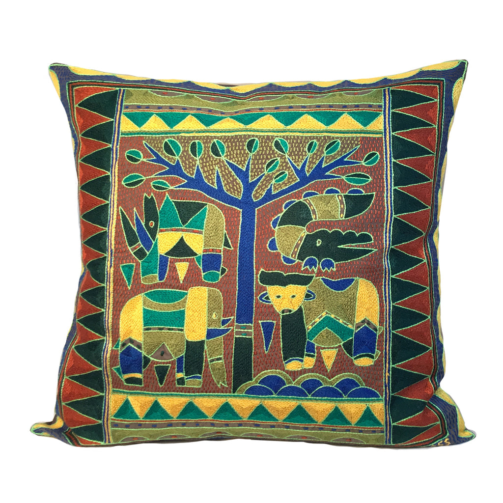 Fevertree Animals under a Thorntree Cushion Cover