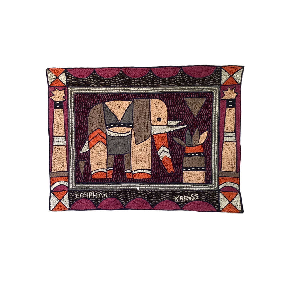 Ruby Sunset Elephant Grazing Unpadded Placemat