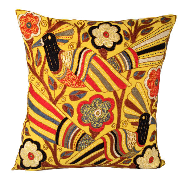Royal Zulu Birds in a Tree Cushion Cover