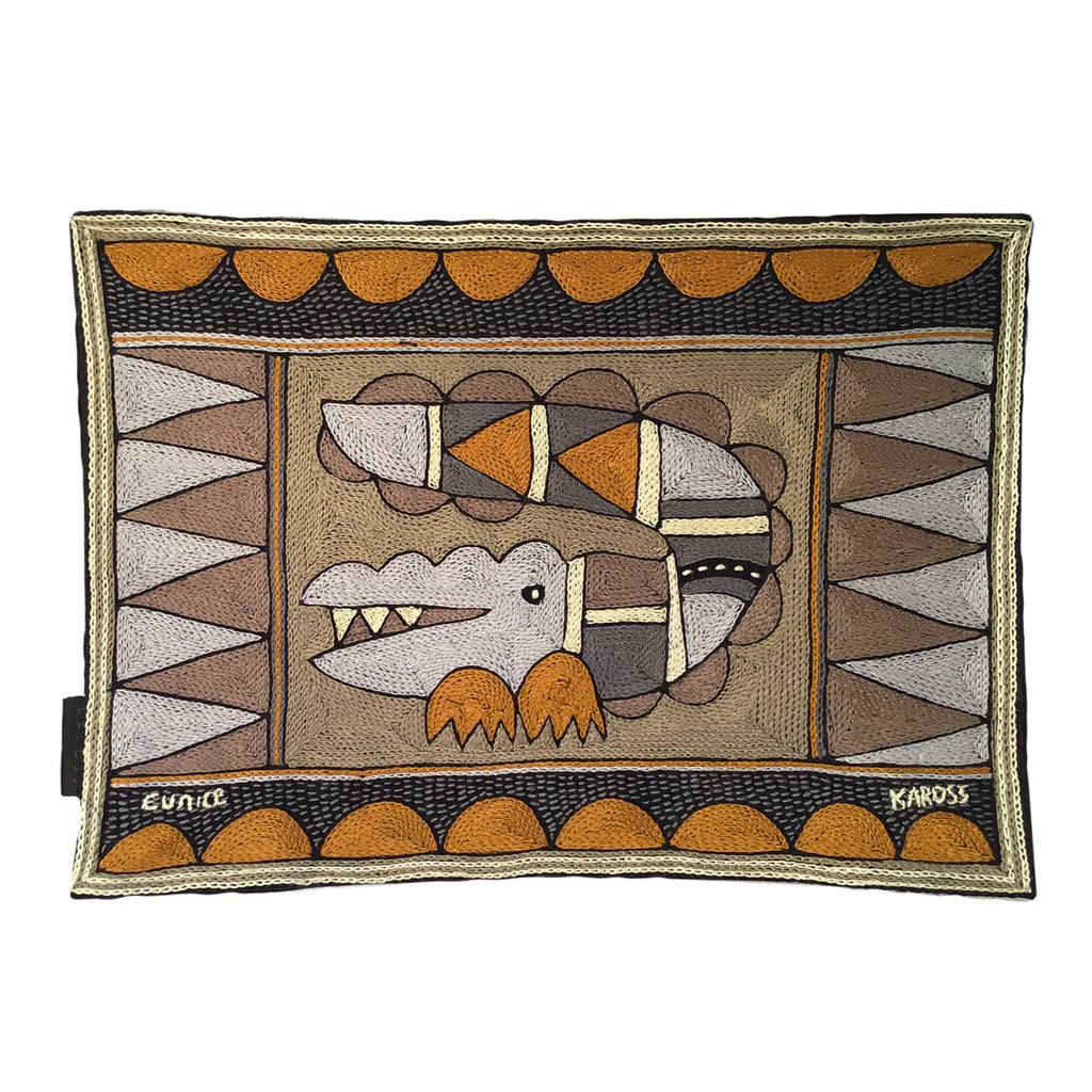 Ode to the African Savannah Crocodile Padded Placemat