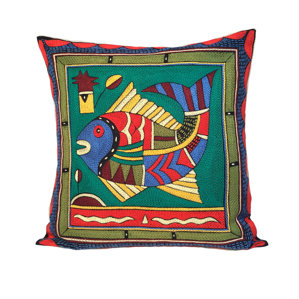 Viva Africa Fat Fish Cushion Cover
