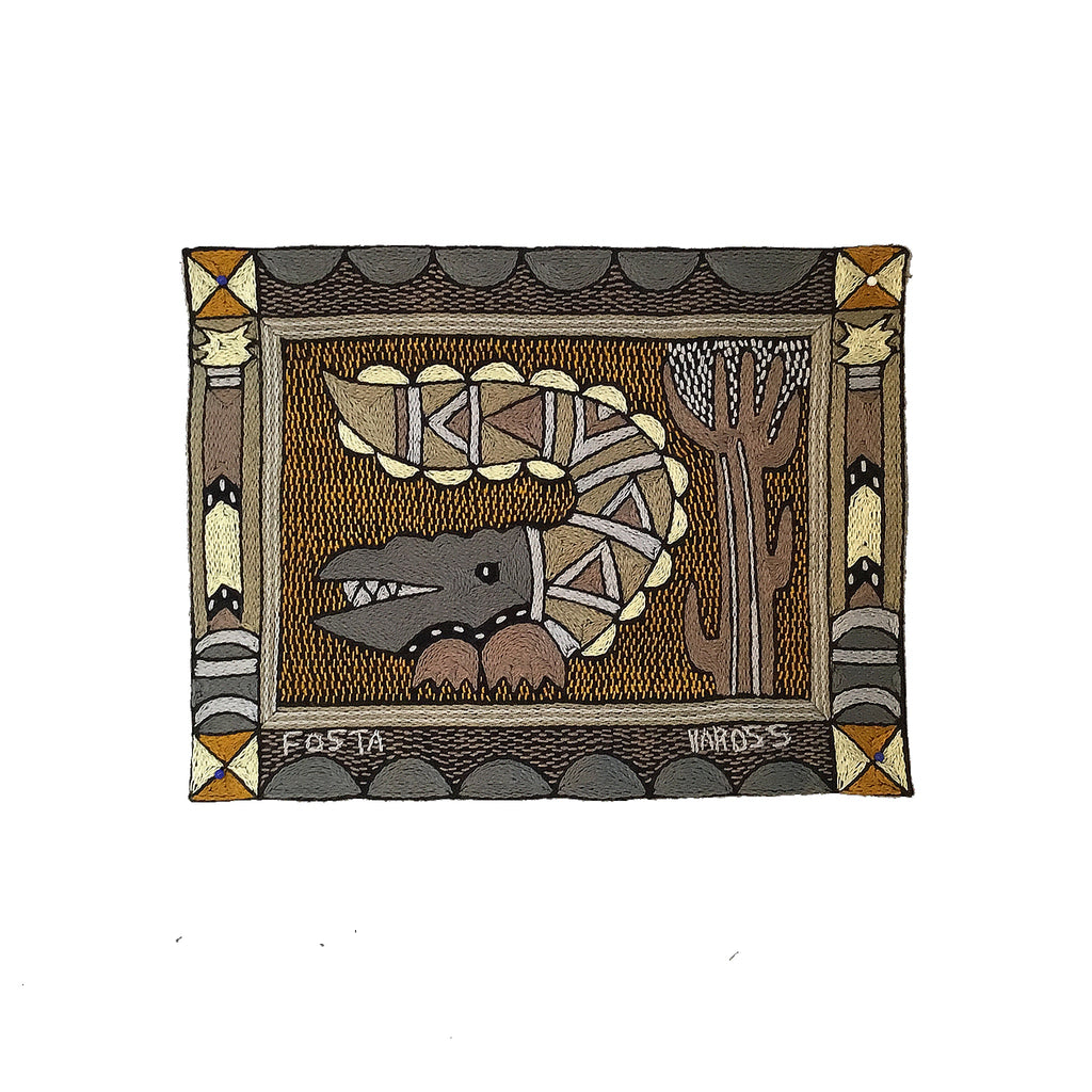 Ode to the African Savannah Crocodile Unpadded Placemat