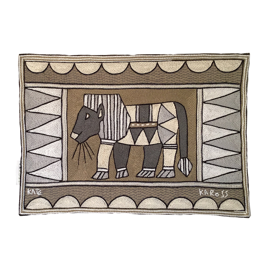 Scattering of Africa Lion  Padded Placemat