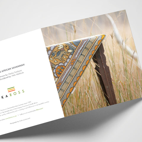 Kaross Printed Gift Cards; Ode to the African Savannah