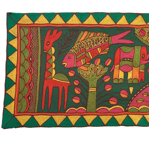 "Shangaan Love ""Happy Fish"" Embroidered Cloth"