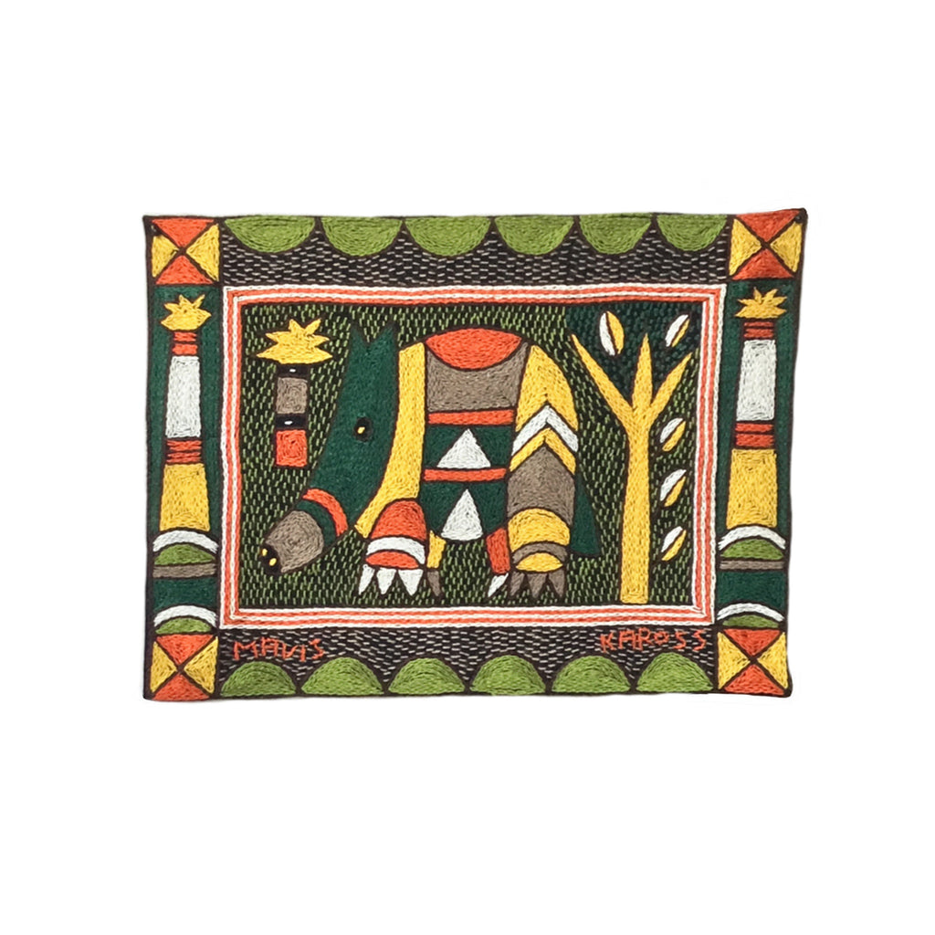 Bushveld Warmth Anteater Hand-Embroidered Unpadded Placemat