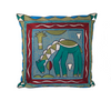 Turaco Giraffe Drinking Cushion Cover