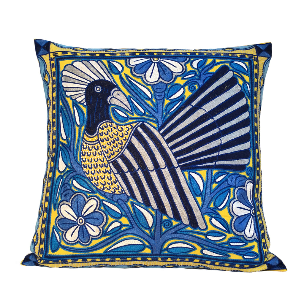 Delpht Blue Bird in a Tree Cushion Cover