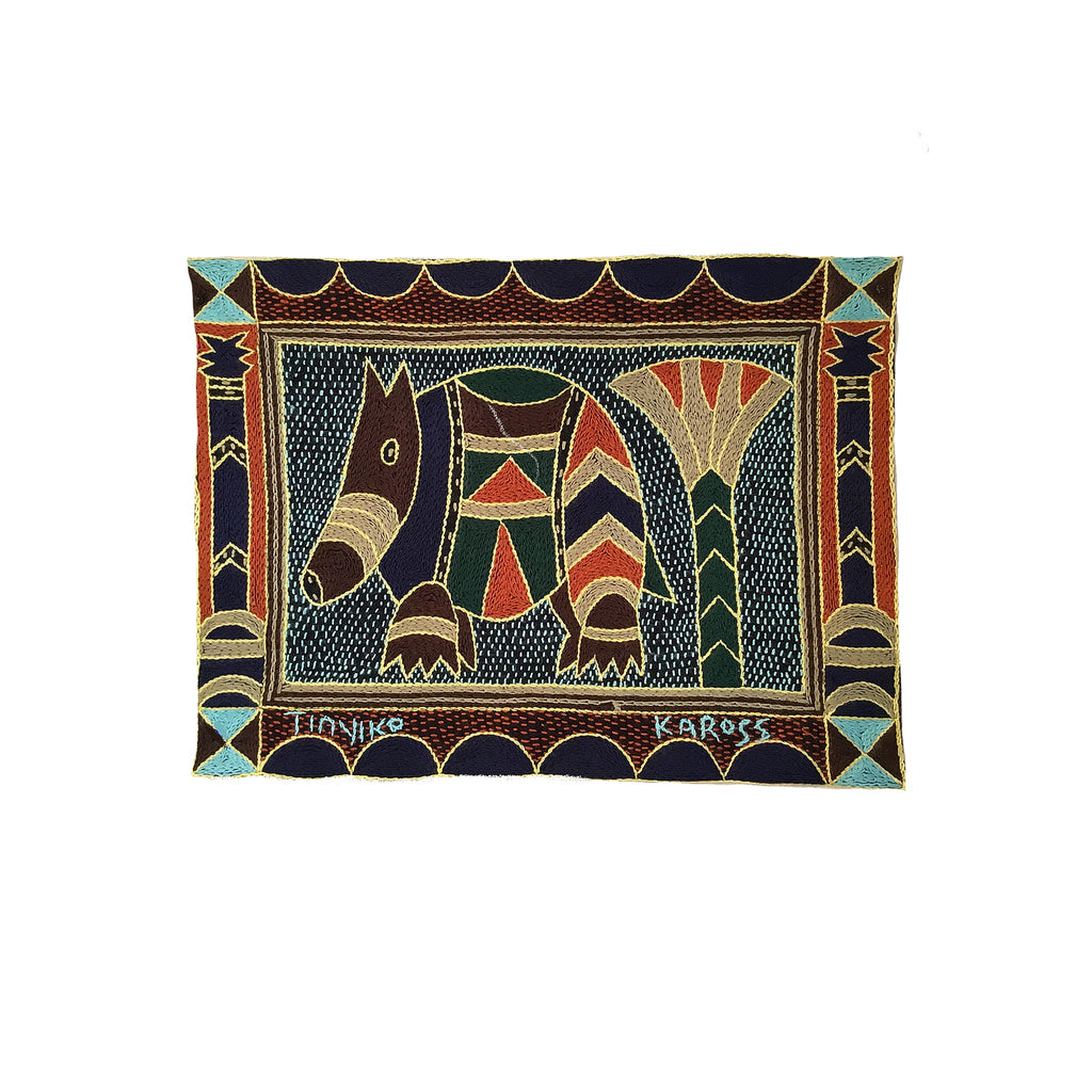 Mopani Moments Anteater Hand-Embroidered Unpadded Placemat