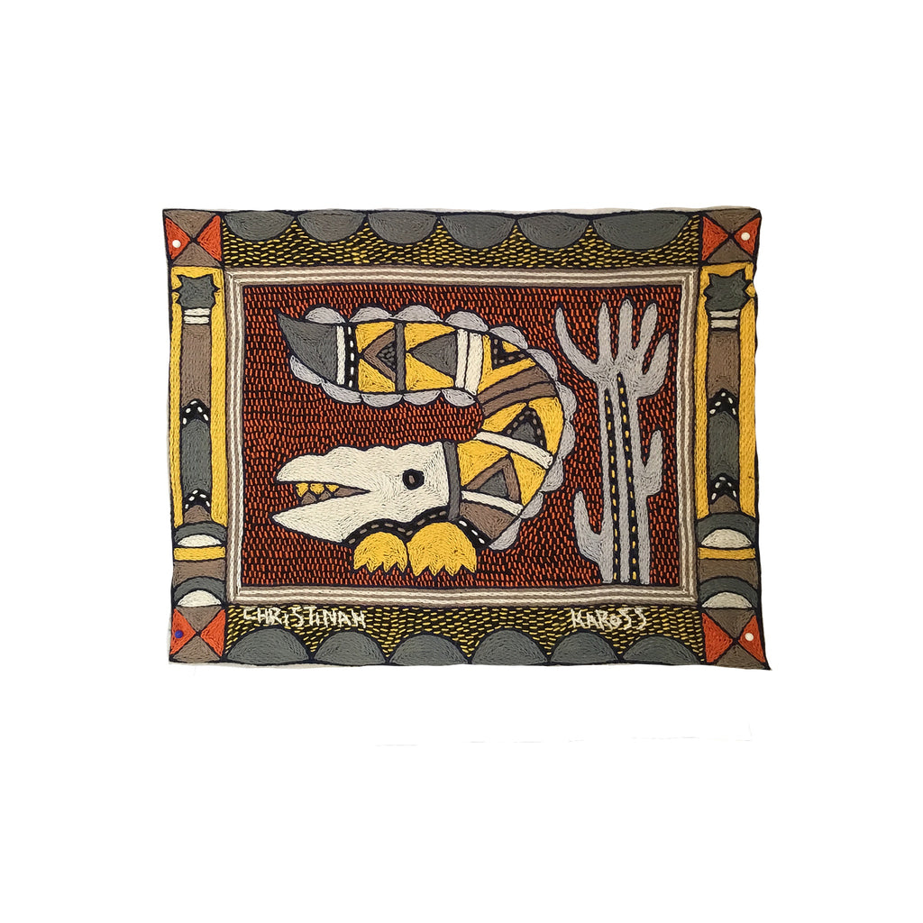 Winterveld Crocodile Hand-Embroidered  Unpadded Placemat