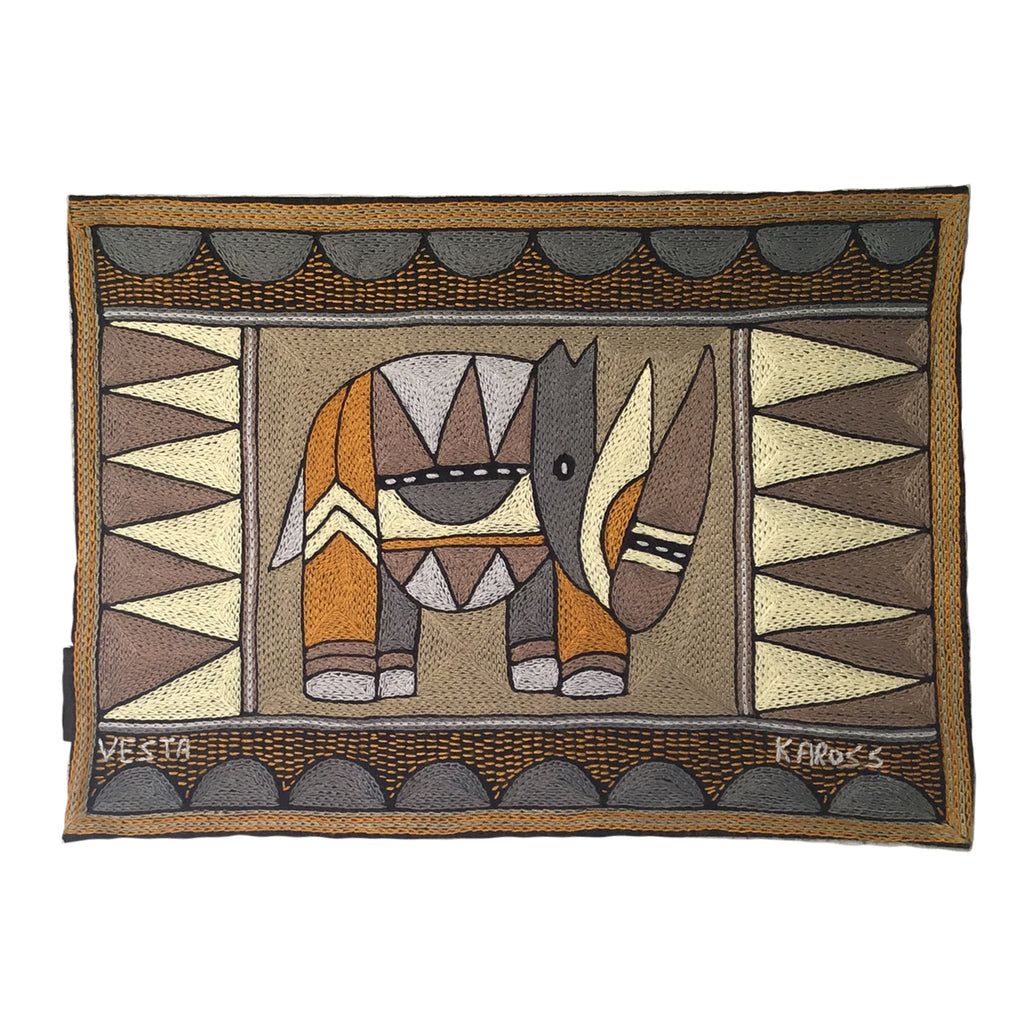 Ode to the African Savannah Rhino Padded Placemat