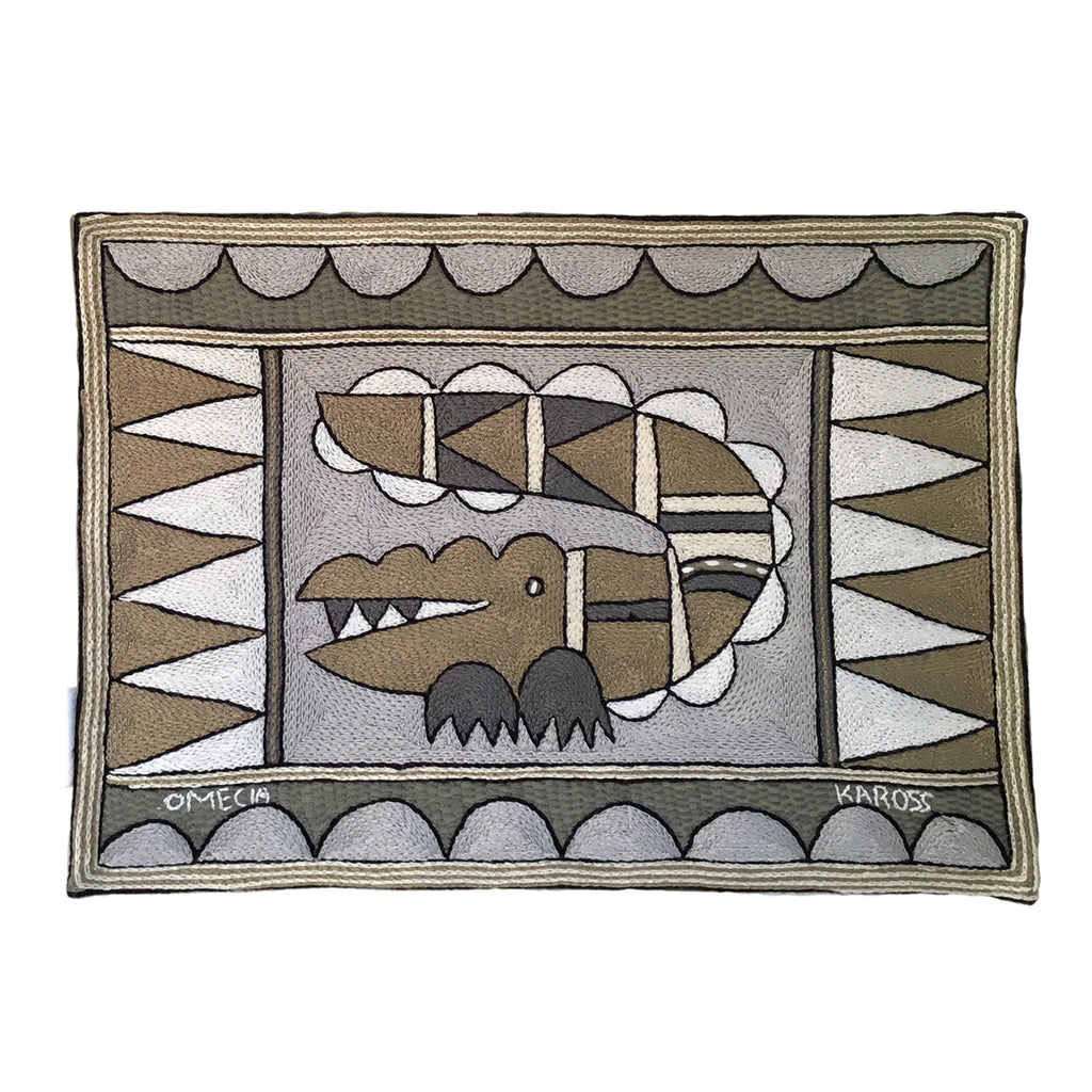 Scattering of Africa Crocodile Padded Placemat