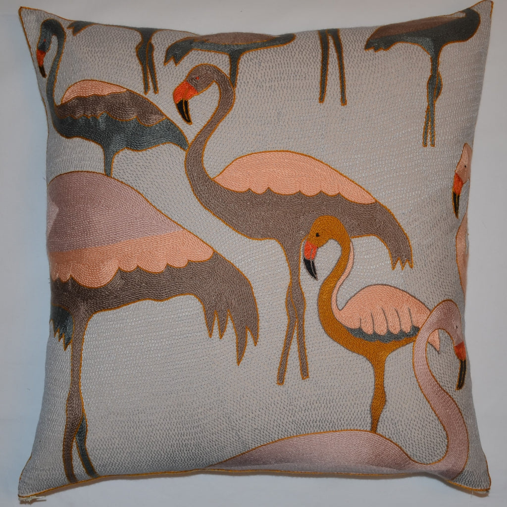 Tashas Flamboyant Flamingoes 2 Cushion Cover